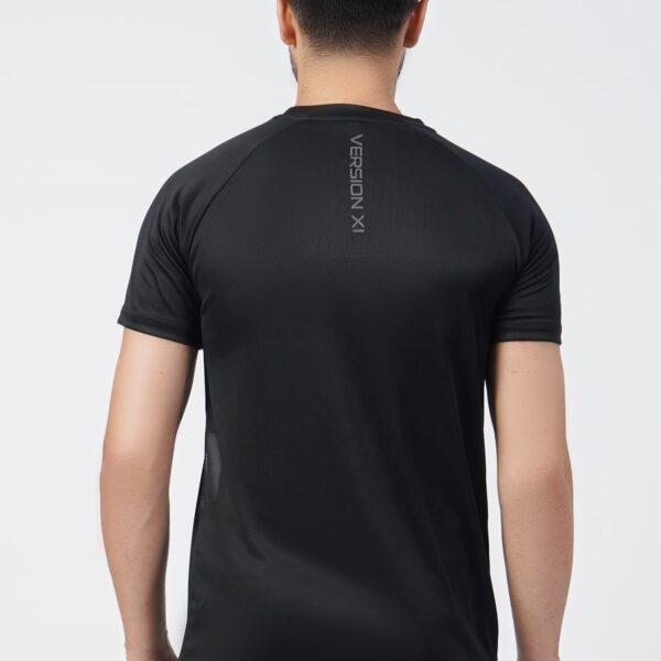 Micro Mesh Men's Black T-Shirt