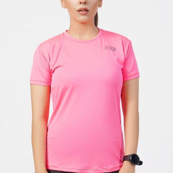 Fizz Pink T-Shirt for women Workouts