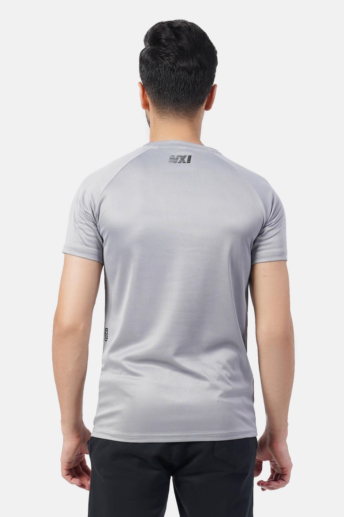 Micro Mesh Men's Gray T-Shirt