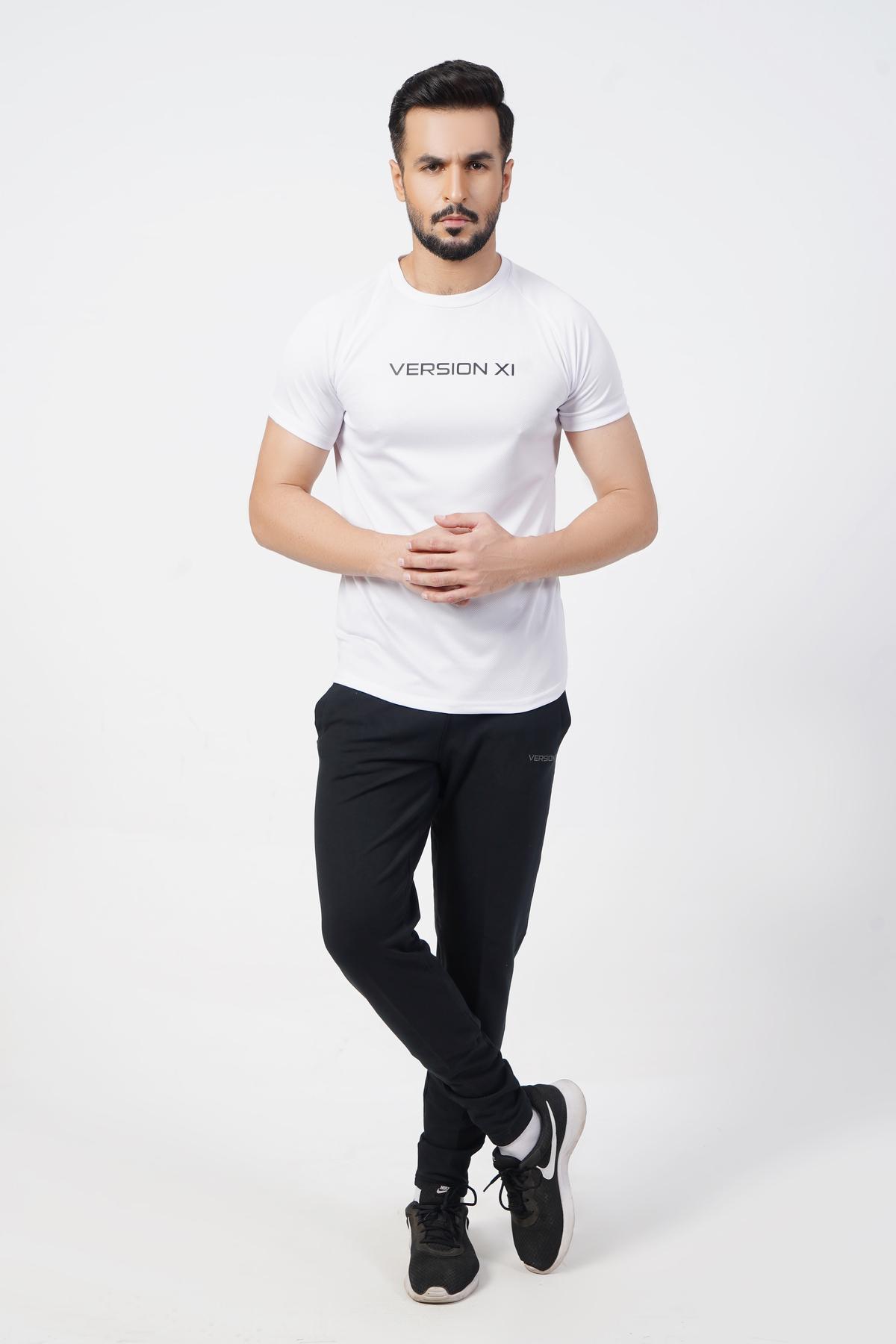 Micro Mesh Men's White T-Shirt