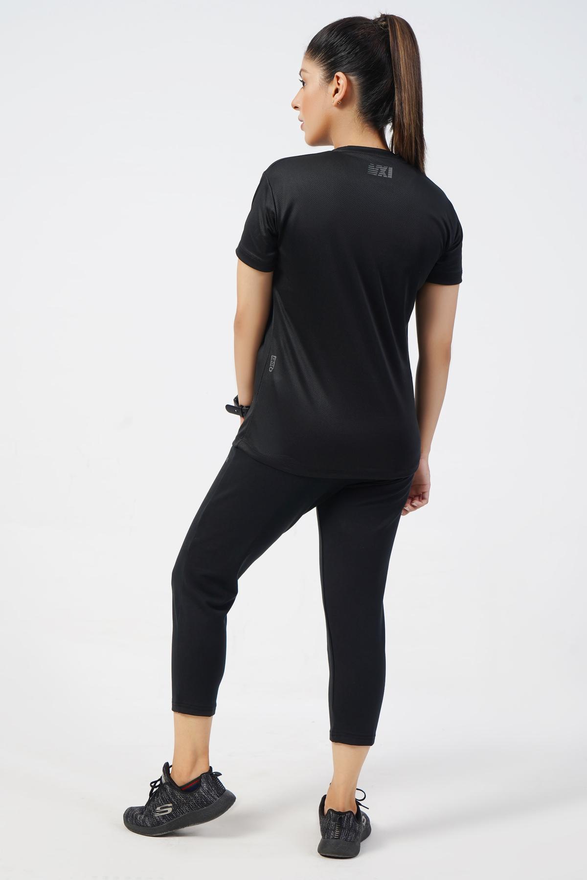 Vital Micro Mesh Black T-Shirt Women