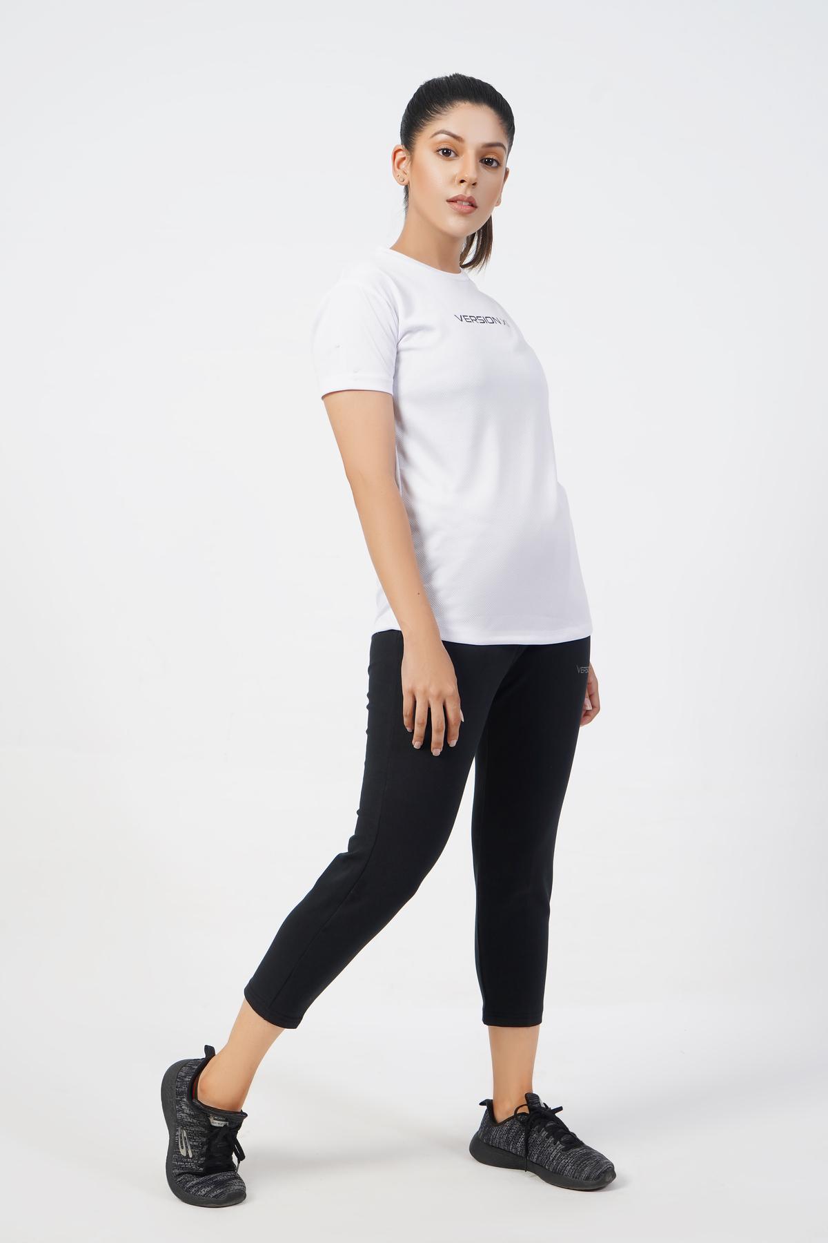 Vital Micro Mesh White T-Shirt Women