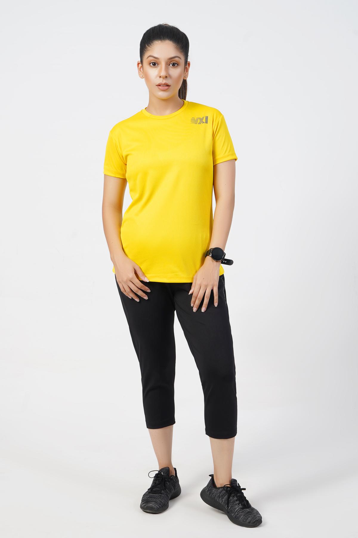 Vital Micro Mesh Yellow T-Shirt
